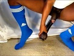 Black Gay Dildo Soccer Football
