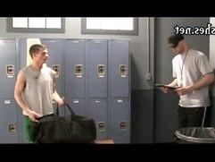 Naughty boys having anal in the locker room