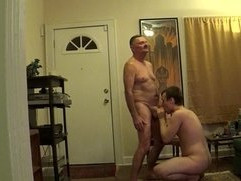 Sucking and jerking Daddy off