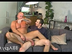 Arousing blowjob with two guys
