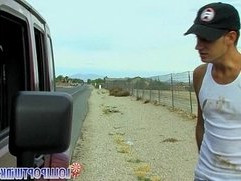 Hitchhiker Twink Gets Picked Up