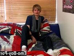 Hot gay Brent Daley is a super cute blonde emo man one of our