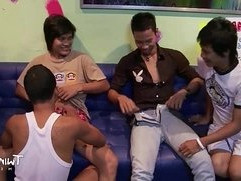 TWINK BOY MEDIA All Asian Twink Foursome