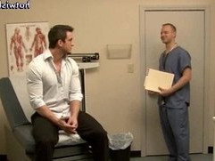 Reckless gay doctor sucking hard cock